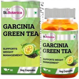 Buy St.Botanica Garcinia Green Tea 500mg Extract - 90 Veg Caps - Nykaa