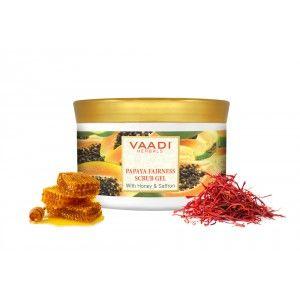 Buy Vaadi Herbals Papaya Fairness Scrub Gel With Honey & Saffron - Nykaa