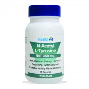 Buy HealthVit N-Acetyl L-Tyrosine (Nat) 350Mg 60 Capsules - Nykaa