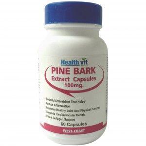 Buy HealthVit Pine Bark 100Mg 60 Capsules - Nykaa