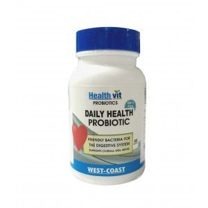 Buy HealthVit Pre And Probiotic 60 Capsules - Nykaa