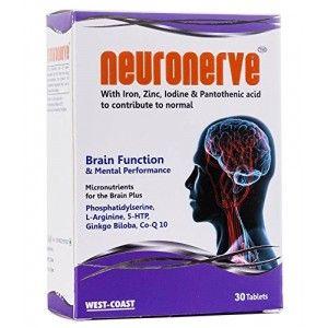 Buy West Coast Neuronerve With Iron, Zinc, Iodine & Pantothenic Acid 30 Tablets - Nykaa