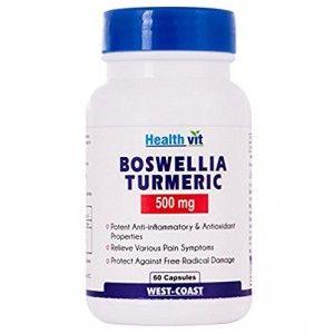 Buy HealthVit Boswellia Turmeric 500Mg Extract 60 Capsules - Nykaa