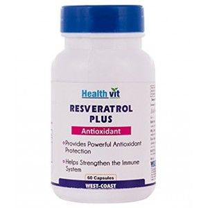 Buy HealthVit Resveratrol Plus Antioxidant 60 Capsules - Nykaa