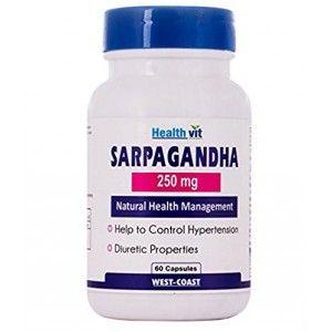 Buy HealthVit Sarpagandha 250 Mg 60 Capsules - Nykaa