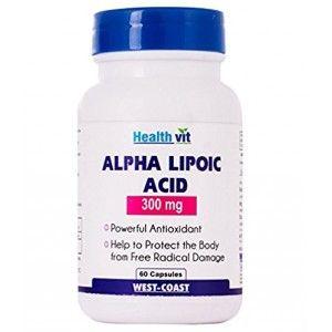 Buy HealthVit Alpha Lipoic Acid 300Mg 60 Capsules - Nykaa