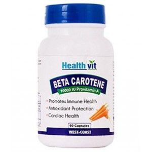 Buy HealthVit Beta Carotene 10000 IU 60 Capsules - Nykaa