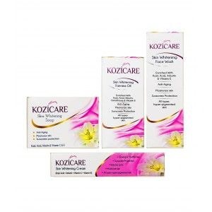 Buy West Coast Kozicare Skin Whitening Kit (Facewash+Soap+Cream+Oil) - Nykaa