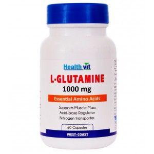 Buy HealthVit L-Glutamine 1000 Mg 60 Capsules - Nykaa