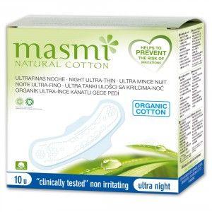 Buy Masmi Organic Sanitary Pads Night Wings Indvidually Wrapped - Nykaa