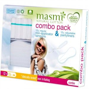 Buy Masmi Organic Panty Liner And Tampon REGULAR COMBO PACK - Nykaa