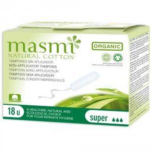 Buy Masmi Organic Non Applicator or Digital Super Tampons (18 Pieces) - Nykaa