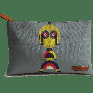 Buy DailyObjects Yellow Alphabet Man Carry-All Pouch Medium - Nykaa
