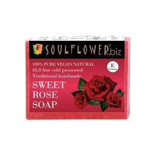 Buy Soulflower Sweet Rose Soap - Nykaa