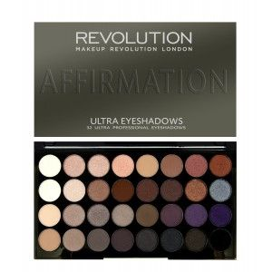 Buy Makeup Revolution Ultra 32 Eyeshadow Palette Affiramtion - Nykaa