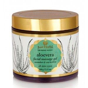 Buy Just Herbs Aloe Vera Facial Massage Gel - Nykaa