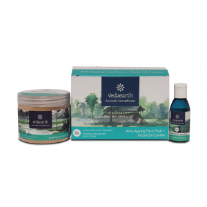 Buy VedaEarth Anti-Ageing  Face Pack + Facial Oil Combo - Nykaa