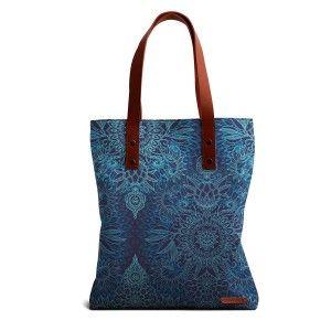 Buy DailyObjects Aqua Cobalt Blue Doodle Pattern Tote Bag - Nykaa