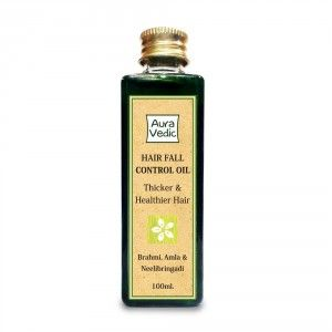 Buy AuraVedic Hair Fall Control Oil with Brahmi, Amla & Neelibringadi Hair Oil - Nykaa