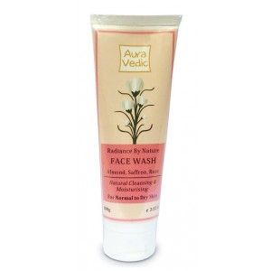 Buy Auravedic Radiance By Nature Face Wash With Saffron, Almond, Rose - Nykaa
