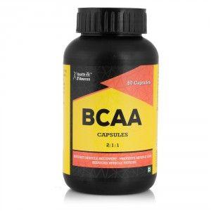 Buy HealthVit BCAA (2:1:1) 1000Mg 60 Capsules - Nykaa