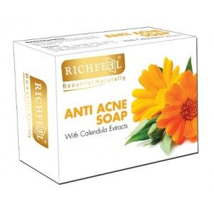 Buy Richfeel Calendula Anti Acne Soap - Nykaa