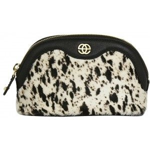 Buy Eske Noshi Black White Fur Cosmetic Case - Nykaa