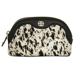 Buy Eske Noshi Black White Fur Cosmetic Case - Nykaa