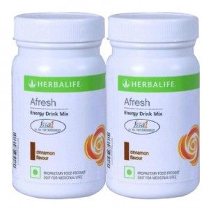 Buy Herbalife Afresh Energy Drink Cinnamon 100gm - Set of 2 - Nykaa