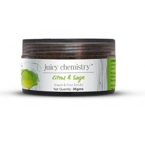 Buy Juicy Chemistry Citrus & Sage (Hand & Foot Scrub) - Nykaa