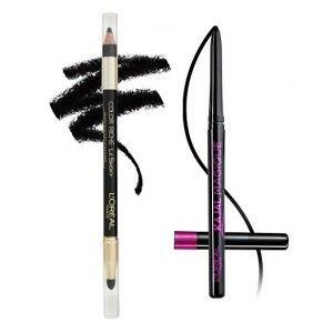 Buy L'Oreal Paris Color Riche Le Smoky Eyeliner - Black Velour 201 + Free Kajal Magique - Nykaa