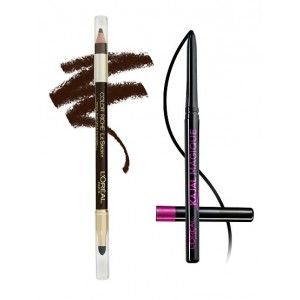 Buy L'Oreal Paris Color Riche Le Smoky Eyeliner - Brown Fusion 204 + Free Kajal Magique - Nykaa