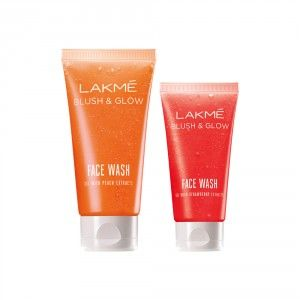 Buy Lakme Blush & Glow Peach Gel Face Wash + Get Free Strawberry Gel Face Wash  - Nykaa