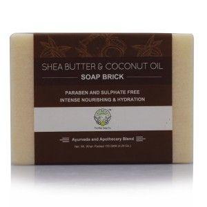Buy Greenberry Organics Shea Butter & Coconut Oil Soap Brick - Nykaa