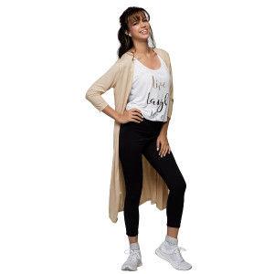 Buy Herbal Enamor E045 Athleisure Long Line Shrug - Sand Skin Melange - Nykaa