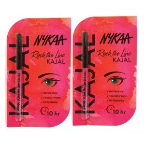 Buy Nykaa Rock The Line Kajal Eyeliner Pack of 2 - Nykaa