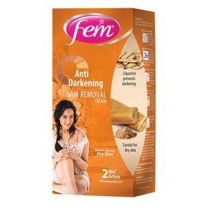 Buy Fem Anti Darkening Hair Removal Cream Sandal - Nykaa