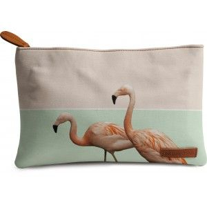 Buy DailyObjects Flamingo Pastel Art Carry-All Pouch Medium - Nykaa