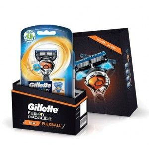 Buy Gillette Flexball ProGlide Combo Pack - Flexball Razor with 4 Flexball Blades Save Rs.499 - Nykaa
