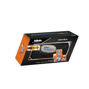 Buy Gillette Fusion Gift Pack + Free Gillette Kit Bag (Worth Rs.400) - Nykaa