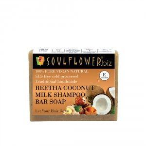 Buy Soulflower Reetha, Coconut Milk Shampoo Bar Soap - Nykaa