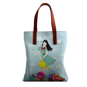 Buy DailyObjects Girl In Flowerland Tote Bag - Nykaa