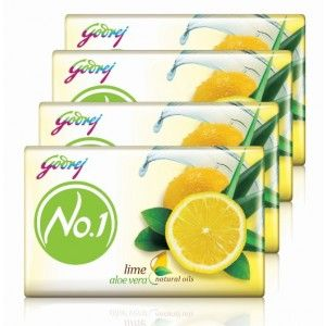 Buy Godrej No.1 Lime & Aloe Vera Natural Oil Soap - Pack Of 4 (Save Rs.28) - Nykaa