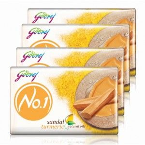 Buy Godrej No.1 Sandal & Turmeric Soap (Pack Of 4) (Off Rs.12) - Nykaa