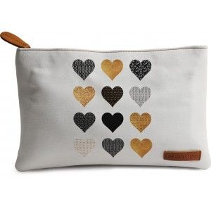 Buy DailyObjects Gold Hearts Carry-All Pouch Medium - Nykaa