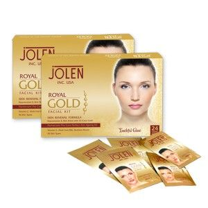 Buy Jolen Royal Gold Facial Kit - Pouch(200gm) (Save Rs.200) - Nykaa