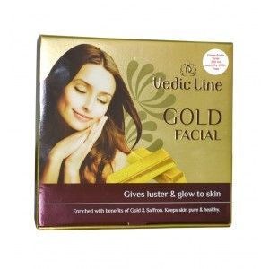 Buy Vedic Line Gold Facial Kit With Green Apple Toner Free Worth Rs.225 - Nykaa