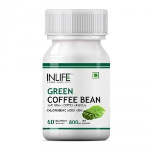 Buy INLIFE Green Coffee Beans Extract 800MG 50% GCA (60 Veg. Capsules) Coffea Arabica Weight Supplement - Nykaa