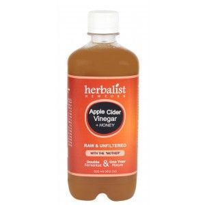 Buy Herbalist Apple Cider Vinegar With Honey, Raw, Unprocessed And Unrefined With Mother Vinegar - Nykaa