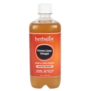 Buy Herbalist Honey Cider Vinegar, Raw, Unprocessed And Unrefined With Mother Vinegar - Nykaa